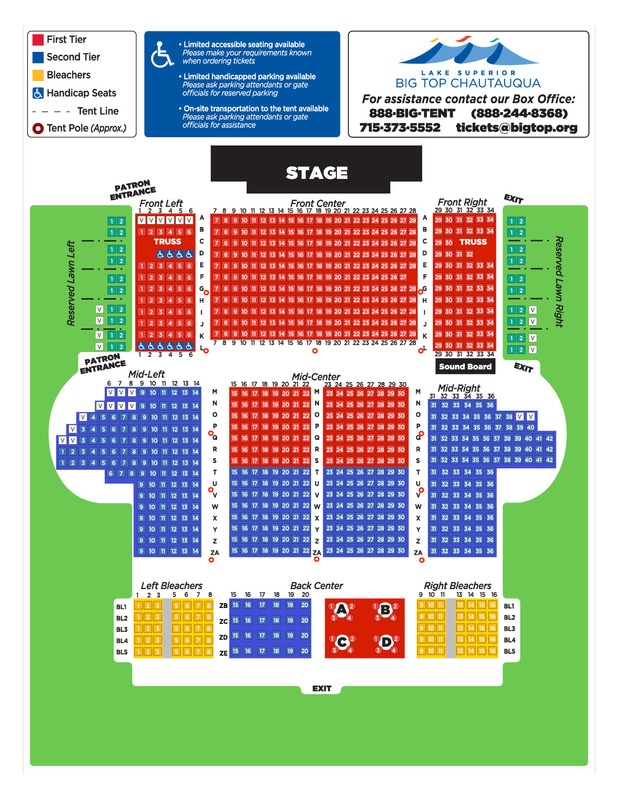 Seating Chart  Big Top Chautauqua